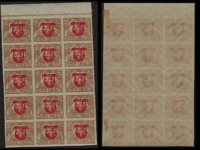 Lithuania 1919 SC 57 mint imperf block of 15 . c8132