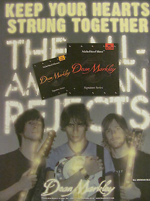 The All American Rejects, Dean Markley Strings, Full Page Promotional Ad