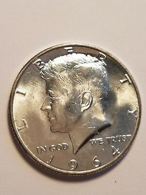 1964-D  Kennedy half dollar BU UNCIRCULATED FROM ROLL  (1 COIN)