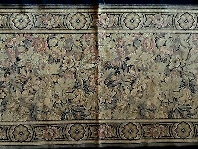"""GORGEOUS ANTIQUE EDWARDIAN ART DECO BROCADE TAPESTRY TABLE RUNNER 19"""" x 64"""""""