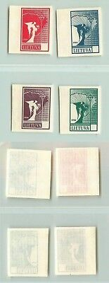 Lithuania 1990 SC 371-374 MNH color proof white paper missing values . f2701