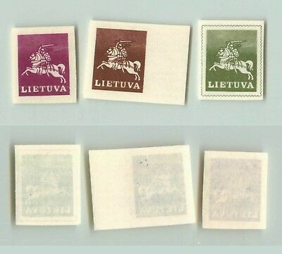 Lithuania 1991 SC 385-387 MNH missing black color . f2707