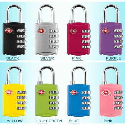 Portable TSA 309 4 Digit Resettable Combination Travel Luggage Suitcase Padlock