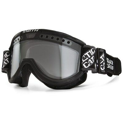 Arctic Cat Smith Quick Strap Carbon Snowmobile Goggles Black with Clear 4942-004