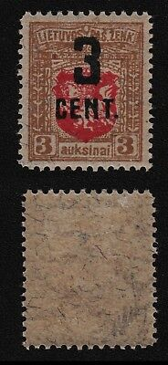 Lithuania 1922 SC 121 mint signed by Bloch . b8805