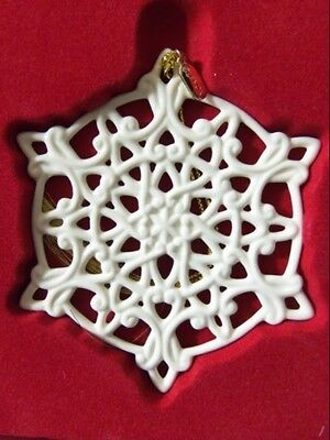 Lenox 2011 Snow Fantasies Annual Snowflake Ornament NIB