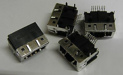 5 x AMP 636180-1 HSSDC rectangular 8 way SMD PCB socket HSSDCREC8P