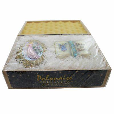 Polonaise Ornaments PEACE ON EARTH GIFT SET Glass Angel Bible Gift Set AP232/DL