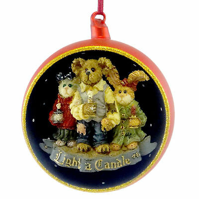 Boyds Bears Resin CHANDLER CONSTANCE FELICITY Christmas Cat Bunny Ornament 25723