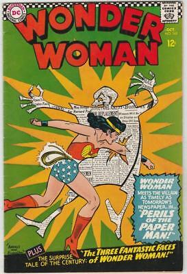 Wonder Woman # 165 strict VF+ 1st   appearance The Paper Man!