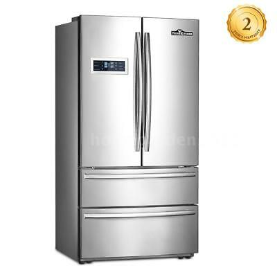 """36"""" Stainless Steel 4 French Doors Refrigerator Top-Freezer Ice Maker 590L O7H0"""