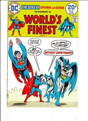 World's Finest # 221 strict FN/VF+ appearance Sons of Superman and Batman!