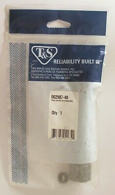 T&S Brass Item # 002987-40 Gray Hose Handle Pre-Rinse Grip Assembly NIP