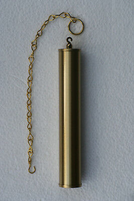 Brass Dummy weight shells 196 x 34mm with 300mm long brass chain