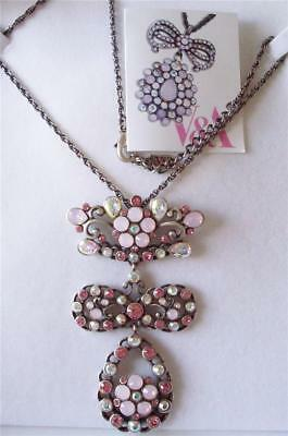 V & A The Victoria & Albert Museum London, Pink Garland Drop Necklace Rrp £120