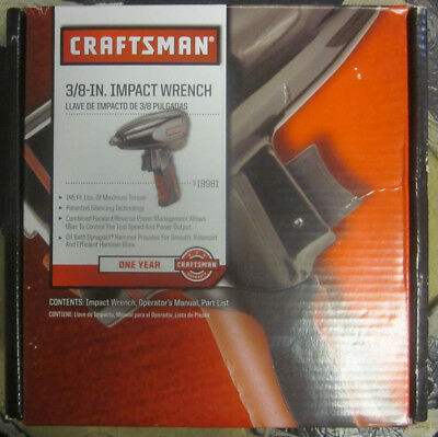 "NEW  Craftsman 19981 Air Impact Wrench 3/8"" Drive"