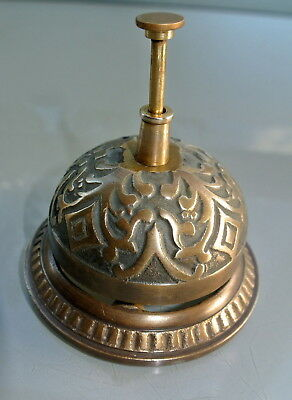 used BELL shop counter solid brass old vintage style antique assist press ring