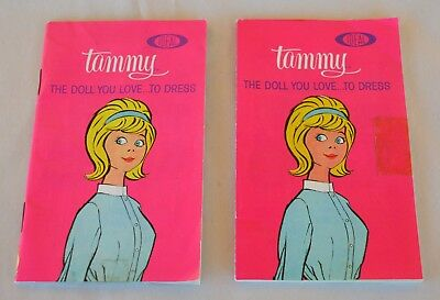 2 VTG 1963 Ideal Toy Corp Tammy Doll Clothing Booklets w Prices Printed Japan
