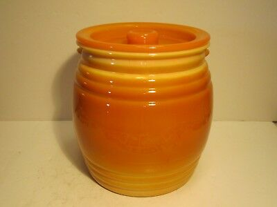 Unqiue Old Large Orange Slag Glass Cookie Jar Covered Kitchen Canister Set