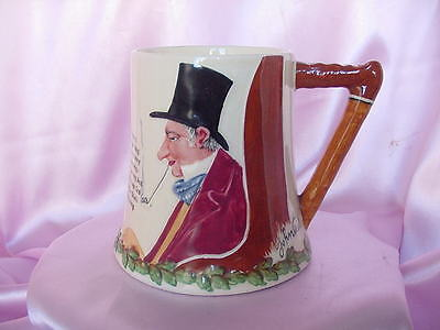 Vintage English Crown Devon Fieldings Musical Box Bottom Mug Cup John Peel Nr