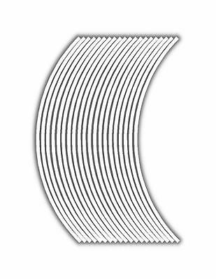 6mm wheel rim tape striping stripes stickers White..(38 pieces/9 per wheel)