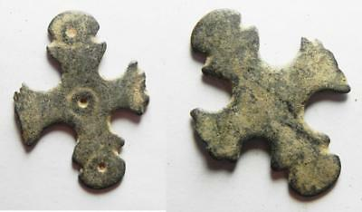 ZURQIEH -as1719- BYZANTINE ERA. BRONZE CROSS/ FRAGMENT. 600 A.D