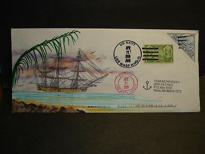 USS WASP LHD-1 Naval Cover 1999 MORRISSEY HAND-PAINTED Cachet