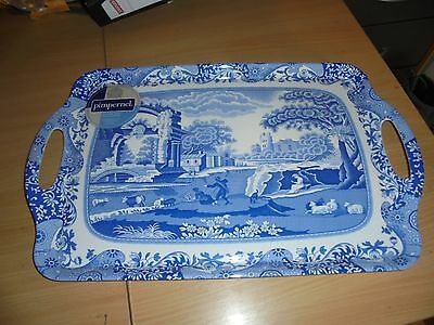 Collectors Spode Blue Italian serving tray Pimpernel large size