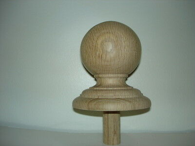 WOOD FINIAL UNFINISHED FOR NEWEL POST FINIAL OR CAP  Finial #3