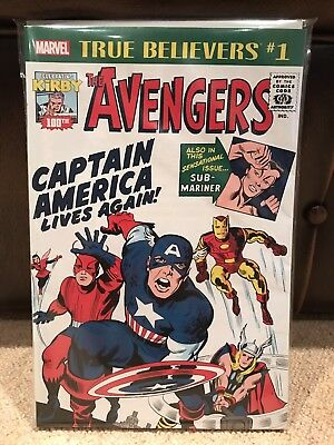 True Believers The Avengers #1 - Kirby 100th Anniversary - Marvel - NM