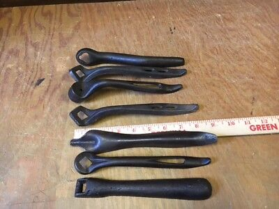 (7) antique CAST IRON lid lifter stove shaker WRENCH farmstead tool cook stove