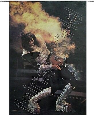 ACE FREHLEY SMOKING GUITAR FLAG POSTER 3 ft TALL