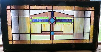 Early Craftsman Style Stained Glass Window c1910s
