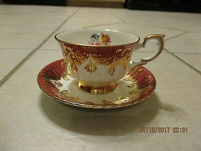 Vintage Paragon Tea Cup and Saucer Majesty The Queen Bone China Gold Floral