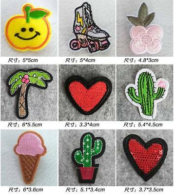 10pcs Iron On Embroidered Patches Badge For Clothes Decoration Parches Bordados
