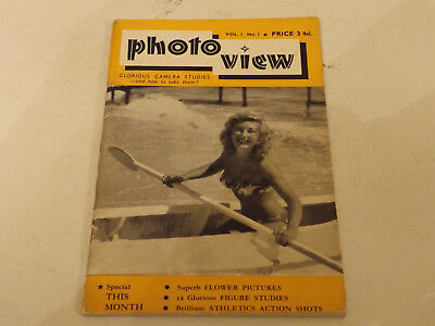 PHOTOVIEW MAGAZINE,1950/60`S ISSUE,V GOOD FOR AGE,59 yrs old,V RARE PHOTO MAG.
