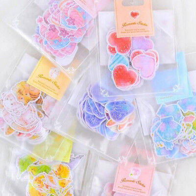 70pcs DIY Cute Paper Sticker Tag Diary Self-adhesive Stickers Album Scrapbooking