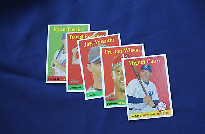 2007 Topps Heritage Yellow Name Variation lot of 5 Different Cards E2566