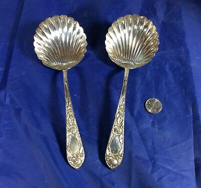 Vintage Kirk & Sons Sterling Silver Large Berry Spoons-Clamshell