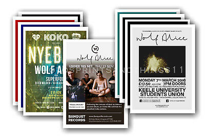 WOLF ALICE - 10 promotional posters  collectable postcard set # 2