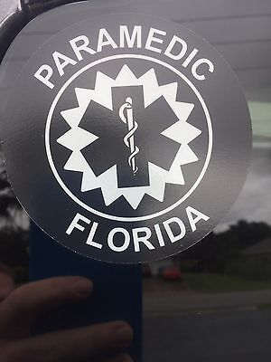 Paramedic Decal Subdued Florida
