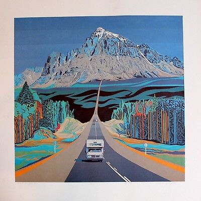 Arthur Horsfall Hand Signed Numbered Limited Edition Trans Canada Highway No. 1