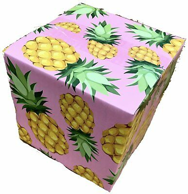 6x6x6 Pineapple Designer Boxes corrugated Cardboard Box Shipping Cartons Mailers