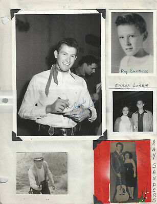 Ray Sanders 9 Photos Many are Signed + Fan Club Material! - Grand Ole Opry