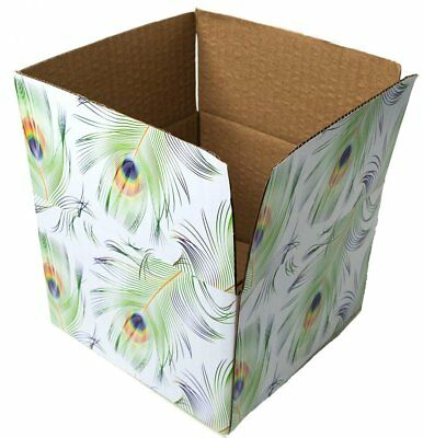 6x6x4 Peacock Designer Boxes corrugated Cardboard Box Shipping Cartons Mailers