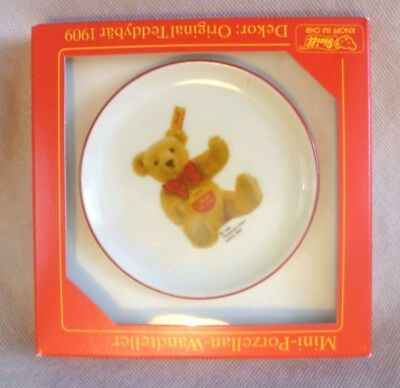 Vintage Reutter / Steiff Teddy Bear Collectable - Mini China Wall Plate - BNIB