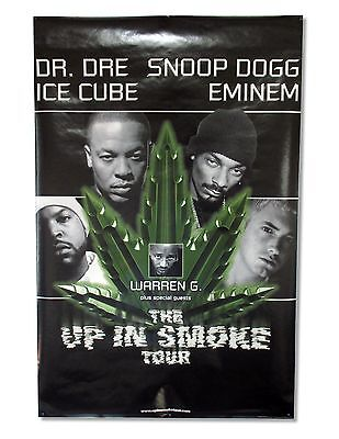 Dr Dre Ice Cube Up In Smoke Tour Wall Poster Snoop Eminem New Official Nos
