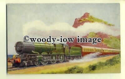 "ry1063 - G.W.R. Torbay Express & ""King George V"" Engine. - postcard"