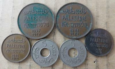Palestine coin lot. 6 coins. MD-4367