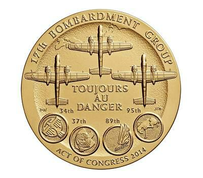 """USA MEDAL BU The Doolittle Tokyo Raiders 1.5"""" Bronze Medal awarded at the U.S. C"""